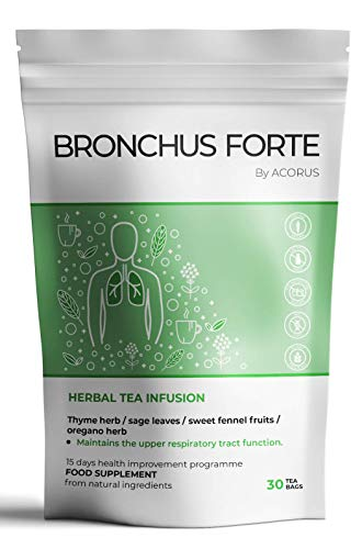 ACORUS Bronchus Forte  Natural Herbal Tea which maintains The Upper Respiratory Tract Function  15 Day Tea Program