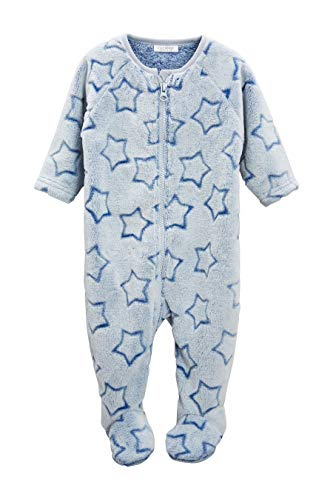 next Baby - Jungen Fleece-Schlafanzug Mit Sternenprint Blau 1.5-2 Jahre