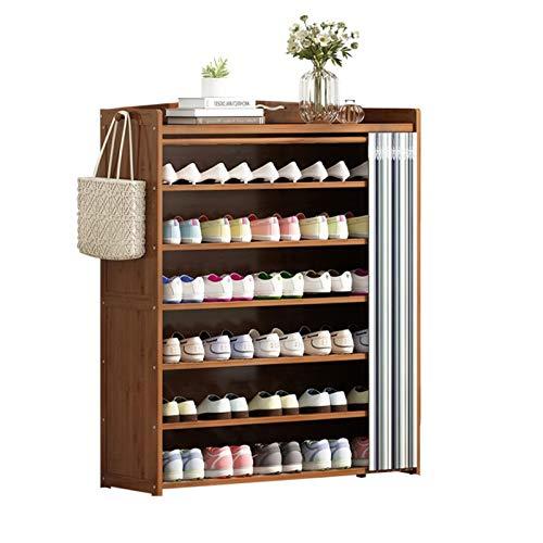 Gabinete de Zapatos Estante de zapatos para uso doméstico de almacenamiento de múltiples capas de guapo de guapo, gabinete de zapatos de tela simple. para Casa ( Color : Gris , Size : 119x29x102cm )