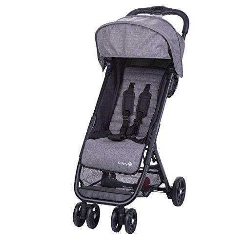 Safety 1st Buggy Teeny, ultrakompakt zusammenklappbarer Kinderwagen inkl. passender Tragetasche, ideal für die Reise oder die Stadt, nutzbar ab ca. 6 Monate bis ca. 3 Jahre, Black Chic