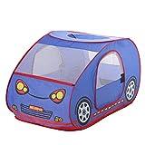 Tienda tipi para niños Carpa de los niños de dibujos animados de coches multifuncional Juego de interior Sirviente niñas juego de la tienda para niños y niñas ( Color : Blue , Size : 125x70x66cm )