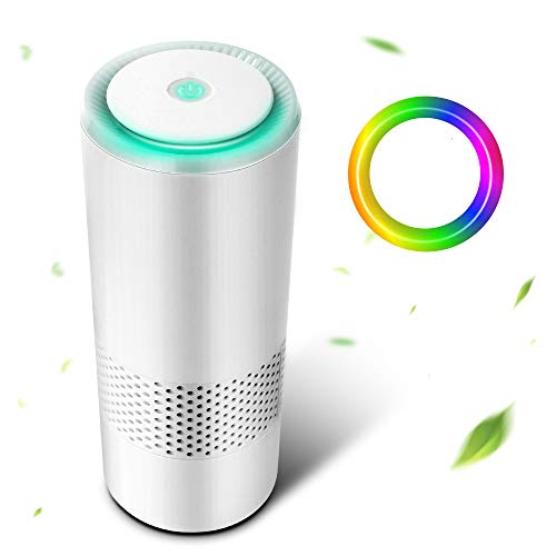 Apark Air Purifier for Home with True HEPA Filter, Air Cleaner with 2 Modes & Night Light, Portable Purifiers for Dust, Smokers, Pollen, Pet Dander, Hay Fever, Cooking Smell, Odors