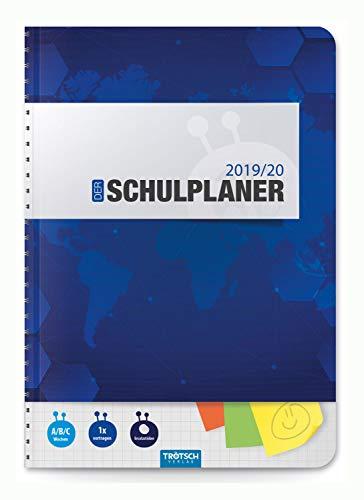 Trötsch Verlag  201929 - Schulplaner 2019/2020, blau, DIN A5, mit Stickern