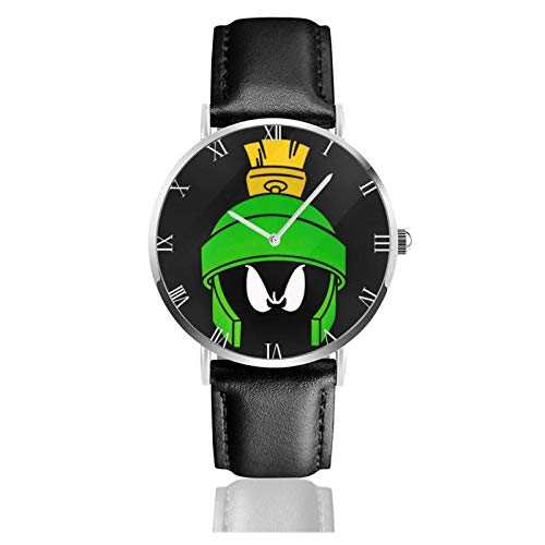 Orologio da Polso al Wrist Watch Analogue Quarzo con Cinturino in PU Watches Marvin il marziano