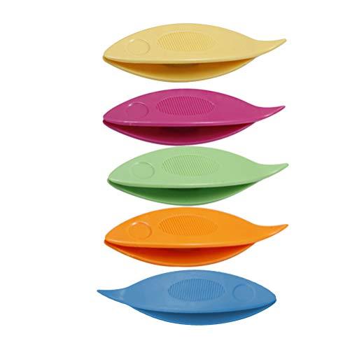 SUPVOX Occhi Schiffchen Kunststoff für Hand Spitze Herstellung Kunst Werkzeug 5 Stück (Mischfarbe)