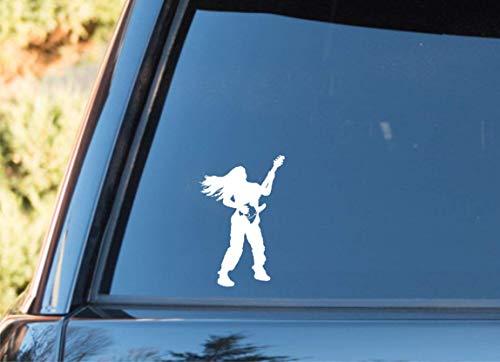Kreative Ation Music Rock Singer Gitarre schwarzer Aufkleber für Auto Laptop Fenster Aufkleber Wandtattoo Schlafzimmer Wandaufkleber Schlafzimmer