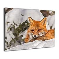 Skydoor J パネル ポスターフレーム 赤い狐 インテリア アートフレーム 額 モダン 壁掛けポスタ アート 壁アート 壁掛け絵画 装飾画 かべ飾り 50×40