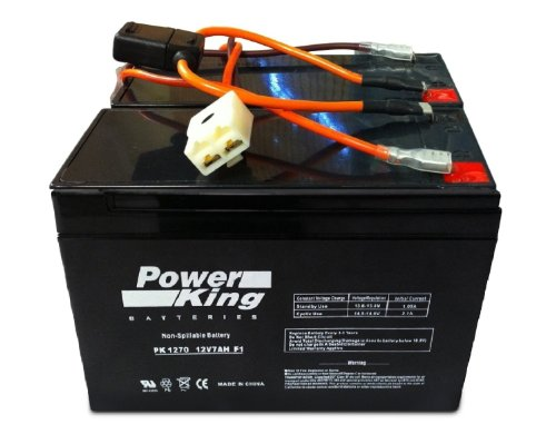This is Compatible with The Razor 12 Volt 7Ah Electric Scooter Batteries Set of 2 Includes New Wiring Harness Instructions Included! 6-DW-7 Beiter DC Power Brand High Capacity