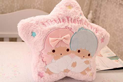 zcm Plüschtier 37cm Kawaii Cartoon Kissen Candy Little Twin Star Form Plüsch Soft Back Kissen Kissen Kreative Schlafsofa Dekoration Gefüllte Puppen