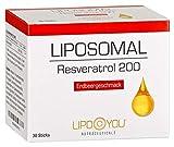 LIPOSOMAL Resveratrol, Flüssig-Sticks mit Resveratrol, zur Unterstützung der...
