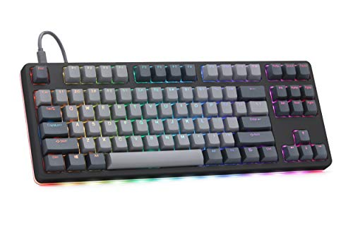 Drop CTRL High-Profile Mechanical Keyboard - Tenkeyless TKL (87 Key) Gaming Keyboard, Hot-Swap Switches, Programmable, Backlit RGB LED, USB-C, Doubleshot PBT, Aluminum (Black, Cherry MX Brown)