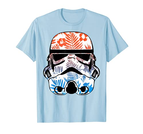 Star Wars Paradise Floral Palms Stormtrooper Helmet T-Shirt
