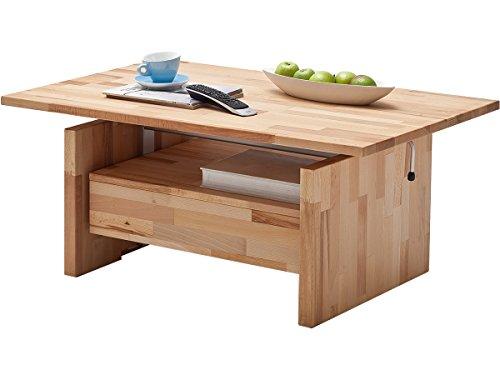 möbelando Couchtisch mit Liftfunktion Wohnzimmertisch Couchtisch Tisch Massivholz Titus