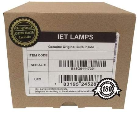 Genuine OEM Replacement Lamp for JVC DLA-RS1, DLA-RS1U, DLA-RS1X, DLA-RS2, DLA-RS2U Projector - IET Lamps with One Year Warranty (Power by Osram)