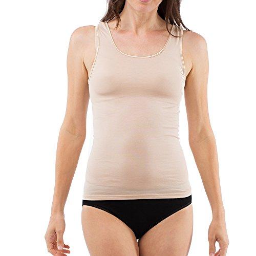 SCHÖLLER dames onderhemd zonder mouw I 51183-41-560 I maat 38 tot 50 I huidskleur (skin)