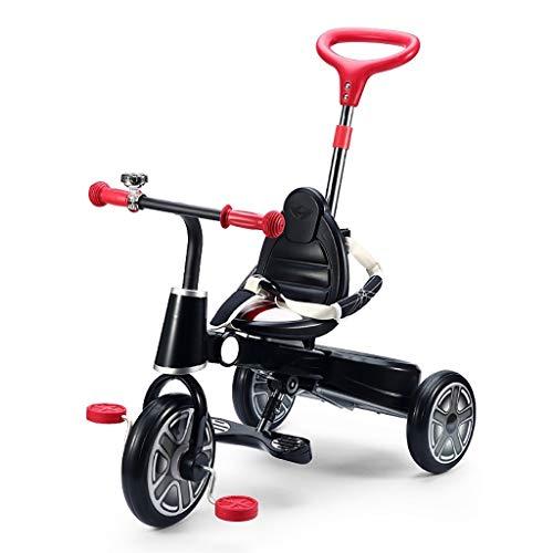 YETC Bicicleta Plegable de Tres Ruedas Moto bebé Bicicleta de Tres Ruedas for niños (Color : Black)