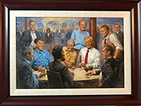 Peck & Gartner Andy Thomas The Republican Club Signed Canvas-Framed