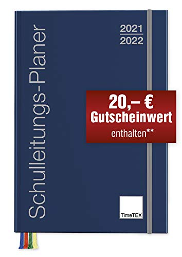 TimeTex Schulleiter-Planer A4-Plus - Schuljahr 2021 - 2022 - Schulleitungs-Planer - Terminplaner - Schulplaner - Kalender für Schulleiter - Timetex 10725 - Neu – mit breitem Verschlußgummi