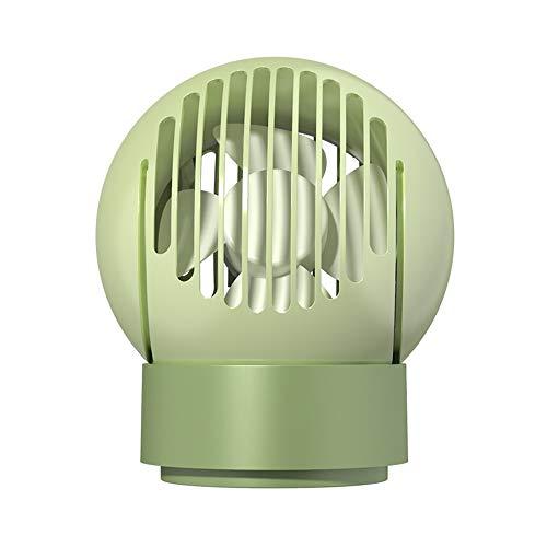 Huante Pequeño Ventilador eléctrico, 3-en-1 Multifuncional de Iones Negativos purificación de carbón Activado Filtro de núcleo de Control Remoto for la Cubierta (Color : Green)