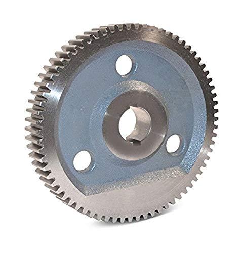 "Boston Gear GF53A Plain Change Gear, 14.5 Degree Pressure Angle, 10 Pitch, 1.250"" Bore, 53 Teeth, Cast Iron"