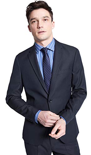 Celio Homme NUAMAURY - Veste de Costume, Bleu (Marine Marine), Large (Taille fabricant:54)
