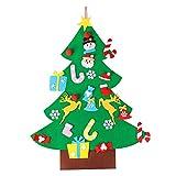 AerWo 3ft Bricolaje árbol de Navidad de Fieltro Con 26 Adornos Desmontables Regalos de Navidad...
