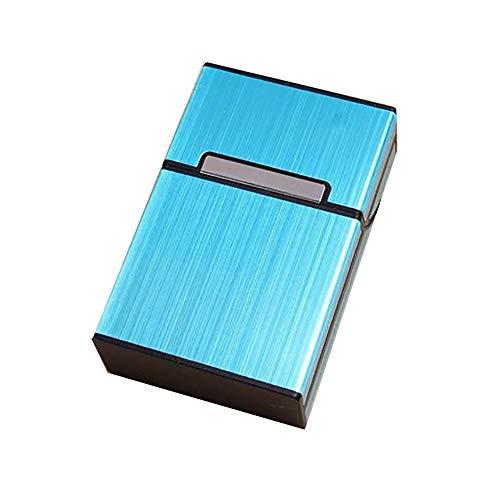 FiedFikt Caja de almacenamiento de metal de aluminio para cigarrillos y tabaco, para mujeres y hombres (D)