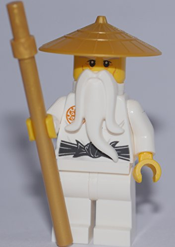 LEGO Ninjago: Minifigur Master Wu / Sensei Wu with staff ( 70596 ) RARE VERSION