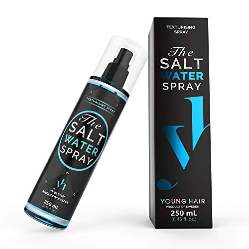 YoungHair The Salt Water Spray,Spray Eau de Mer Cheveux,Beach Waves Spray Texturisant 250ml