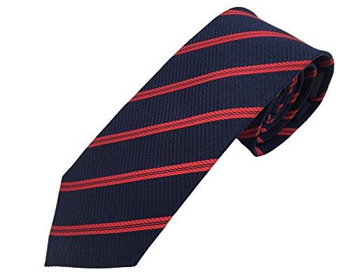 corbatas de hombre rayas azul rojo - 100% seda - corbatas de hombre de seda - fabricada a mano de Pietro Baldini