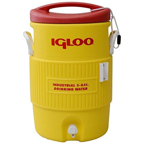 Igloo 5 Gallon 400 Series Getränkebehälter mit Zapfhahn, 18.9 Liter, Rot/Gelb