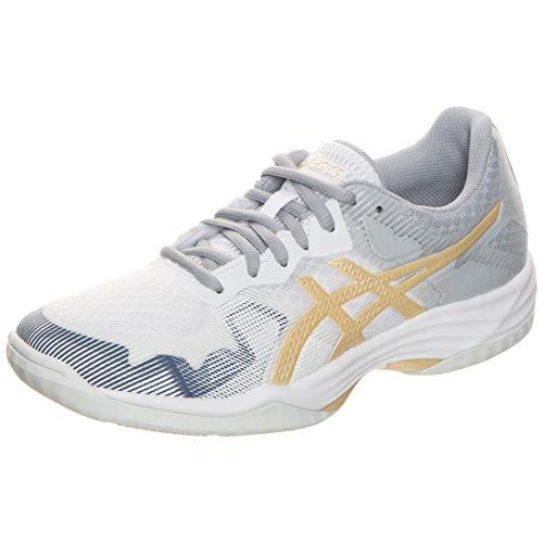 ASICS Damen Gel-Tactic Leichtathletik-Schuh, Weiss/Champagner, 40 EU