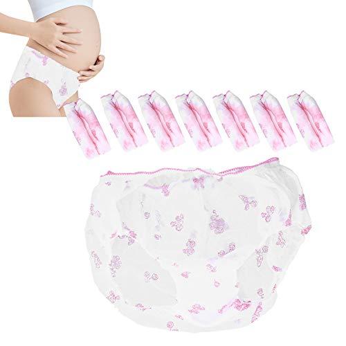 Ropa Interior de Mujer, algodón Puro, 8 Piezas, Bragas posparto para Mujer, para el período Menstrual, para el posparto, para el Embarazo, para Viajar(M-M)