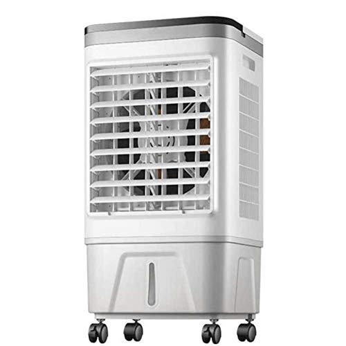 Refrigerador de aire 3 en 1 portátil, ventilador y humidificador con temporizador de 12 horas, Función de oscilación, 3 ajustes de velocidad del viento, control remoto,Enfriador de evaporaciones