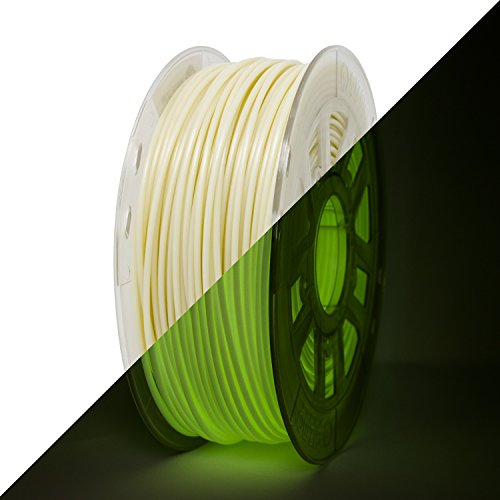 Gizmo Dorks 3mm ABS Filament 1kg / 2.2lb for 3D Printers, Glow in the Dark Green