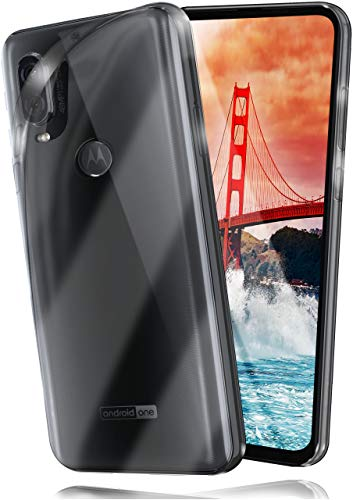 moex Aero Hülle kompatibel mit Motorola One Vision - Hülle aus Silikon, komplett transparent, Klarsicht Handy Schutzhülle Ultra dünn, Handyhülle durchsichtig einfarbig, Klar