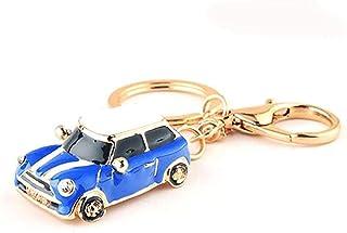 Foryheart Simple Personality Metal Keychain Creative Car Shape Pendant Keyring MultiFunction Key Pendant Dark Blue