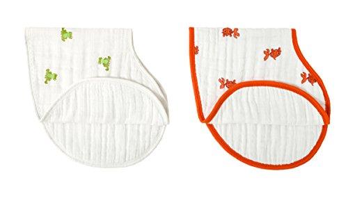 aden + anais - 7027 - Bavoirs d'épaule en Mousseline - Lot de 2 Pièces - Mod About Baby