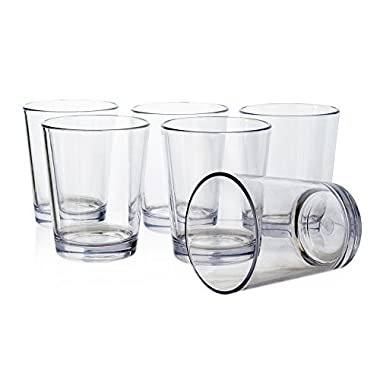 Bistro 15-ounce Premium Quality Plastic Tumblers | set of 6 Clear