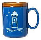 Cape Shore 18oz Hand Glazed Stoneware Pottery Mug, Multiple Styles Available (Lighthouse)