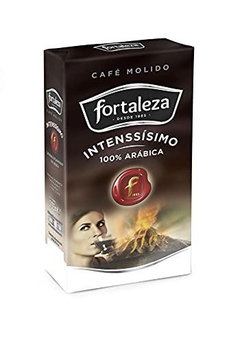 Café Fortaleza - Café Molido, Sabor Intenssisimo, Variedades Arábicas, Compatible con Cafeteras Italianas, de Filtro y de Émbolo, Pack 235g x 12 - Total 2,82kg