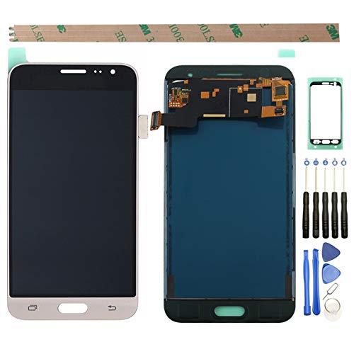 YHX-OU Para Samsung Galaxy J3 (2016) J320A reparación y sustitución de pantalla LCD + digitalizador de pantalla táctil con herramientas (dorado)