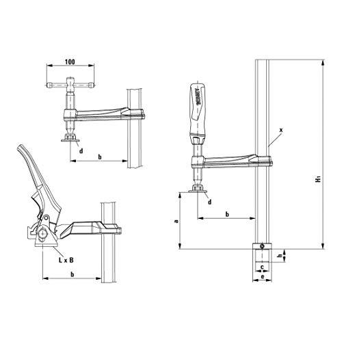 Bessey TW16-20-10K TW16 - Pinza para mesas de soldadura (20/10 cm)