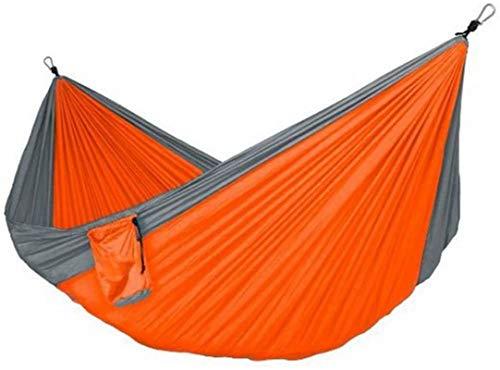 Tiendas de campaña para acampar Hamaca Double Camping Hamaca con correa de árboles de hamaca, paracaídas portátiles hamaca de nylon de viaje Viaje doble camping hamaca camping al aire libre hamaca tie