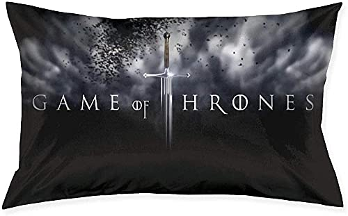KINGAM G-AMe of Thro-NES - Funda de cojín suave para sofá decorativo del hogar, 50,8 x 76,8 cm