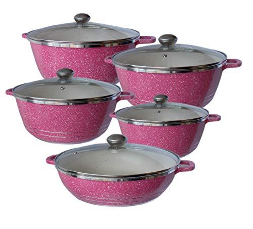 Opiniones de Bateria de Cocina Rosa Top 5. 4