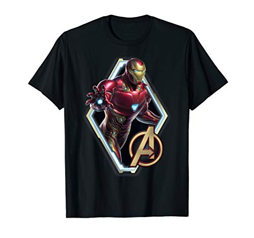 Marvel Avengers Endgame Iron Man Logo Graphic T-Shirt