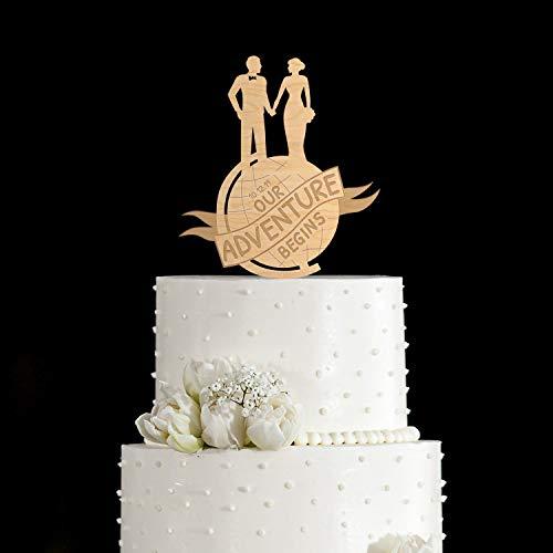 The Adventure Begins Adventure Cake Topper Reise Kuchen Topper Einzigartige Hochzeitstorte Topper...
