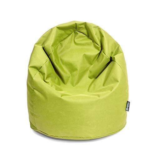 Sitzsack Birne Outdoor Beanbag Indoor Sitzsäcke 3 Größen & 32 Farben Bodenkissen Riesensitzsack Erwachsene Bean Bags Kinder Wohnzimmer (XXXL Ca. H : 130cm - Dm : 85cm ca. 490 Liter, Lime)