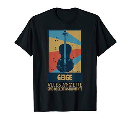 Schickes Vintage Violine Geschenk für Violinist - Geige T-Shirt